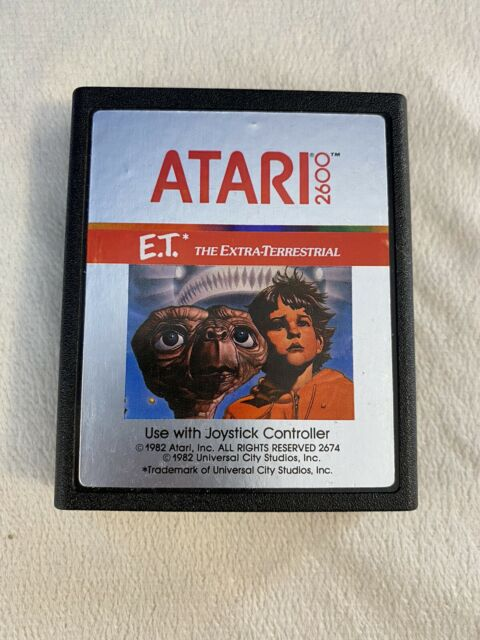 Atari 2600 ET The Extra Terrestrial Video Game Tested Working Nice Condition