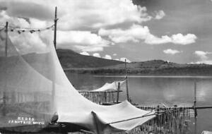 RPPC-Redes-Janitzio-Mexico-Fishing-Nets-ca-1950s-Vintage-Postcard