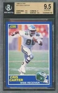 Cris-Carter-Rookie-Card-1989-Score-72-Eagles-BGS-9-5-9-5-9-9-5-9-5
