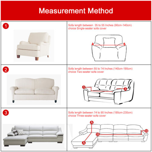 L Shape Stretch Elastic Fabric Sofa Cover Sectional Corner Couch Cover Slipcover