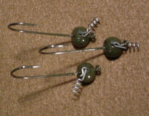 Gamakatsu G.S 1//4 oz ronde Vert Citrouille Shakey Head Jig-Neuf Vis de verrouillage