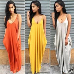 1f7cb5956041 New Sexy Women Summer Boho Long Maxi Evening Party Dress Beach ...