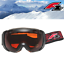 Classic-Skibrille-F2-Alpinski-Snowboard-Brille-Schwarz-S2-Filter-Orange-getoent Indexbild 10