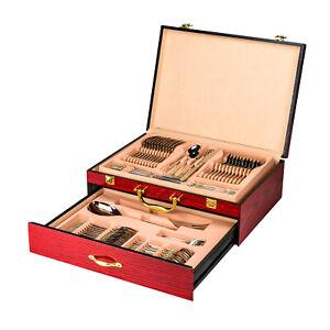 Venezia-Collection-Flatware-Storage-Chest-Premium-Wooden-Box-with-2-Drawers