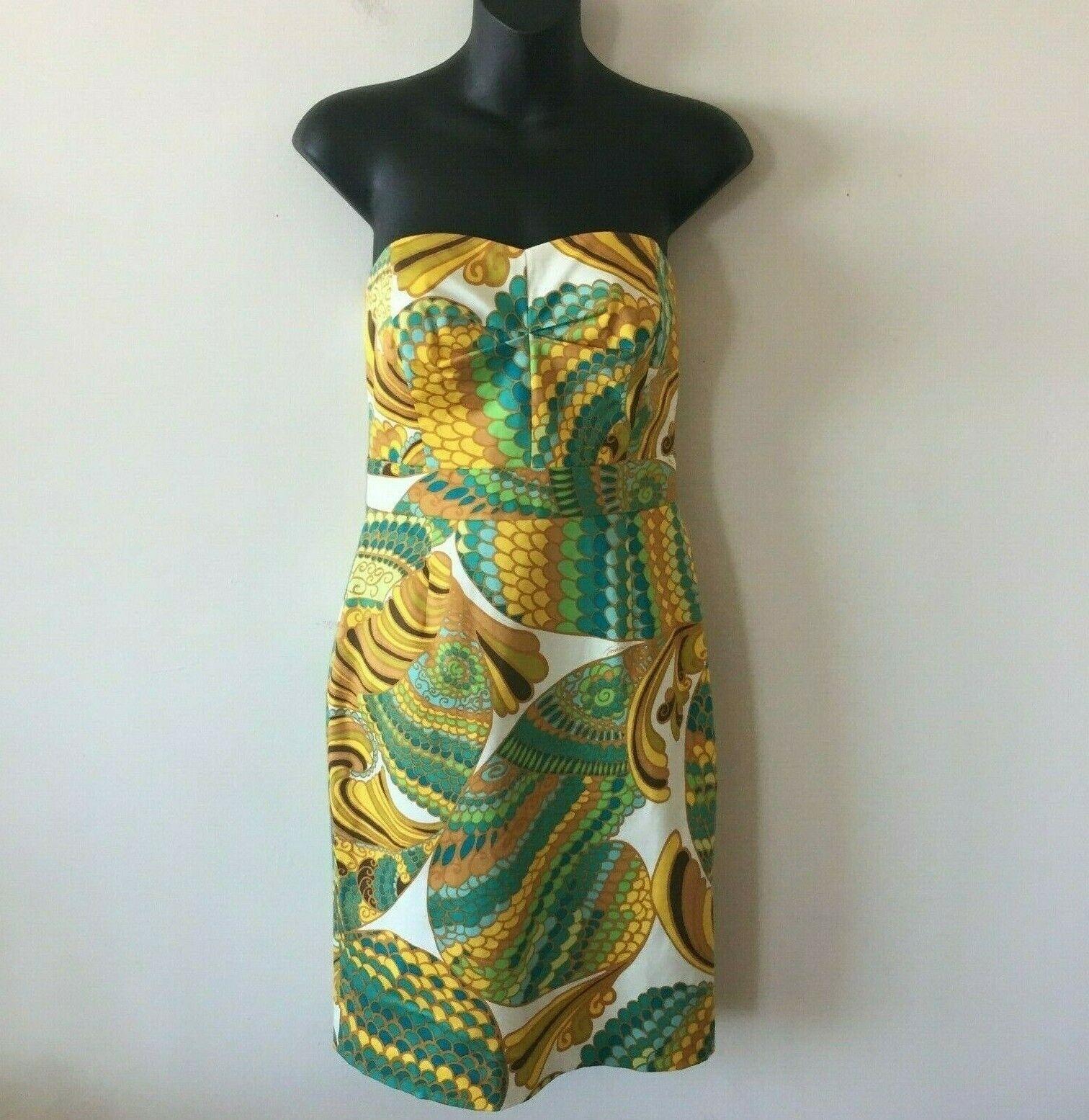 Bananna Republic Trina Turk Collection Strapless Dress Mermaid Woherren 0 NWOT