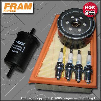 Kit De Servicio De Renault Megane I 1.4 16v Fram Aceite Aire Filtro De Combustible enchufes 1999-2003