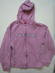 Manguun hoodie girls sz 10 12 pink Munchen Munich sweatshirt zipup ... b438265706