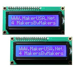 2-Pack-1602-LCD-16x2-HD44780-Character-I2C-Serial-Interface-Module-Blue-USA