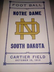 Reprint-of-1913-Notre-Dame-Football-game-program-vs-South-Dakota-Great-gift