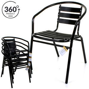 Lightweight Garden Furniture Bistro chair aluminium black finish lightweight outdoor patio garden image is loading bistro chair aluminium black finish lightweight outdoor patio workwithnaturefo