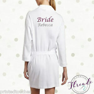 Image Is Loading Bride Dressing Gown Bathrobe Wedding Robe Bridal Party