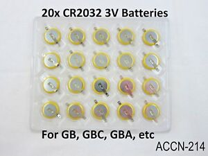 20-Replacement-Battery-Game-Boy-Gameboy-Color-CR2032-Tabbed-Tab-GB-GBC-US