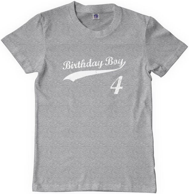 Threadrock Kids Birthday Boy 4 year old Youth T-shirt happy 4th four