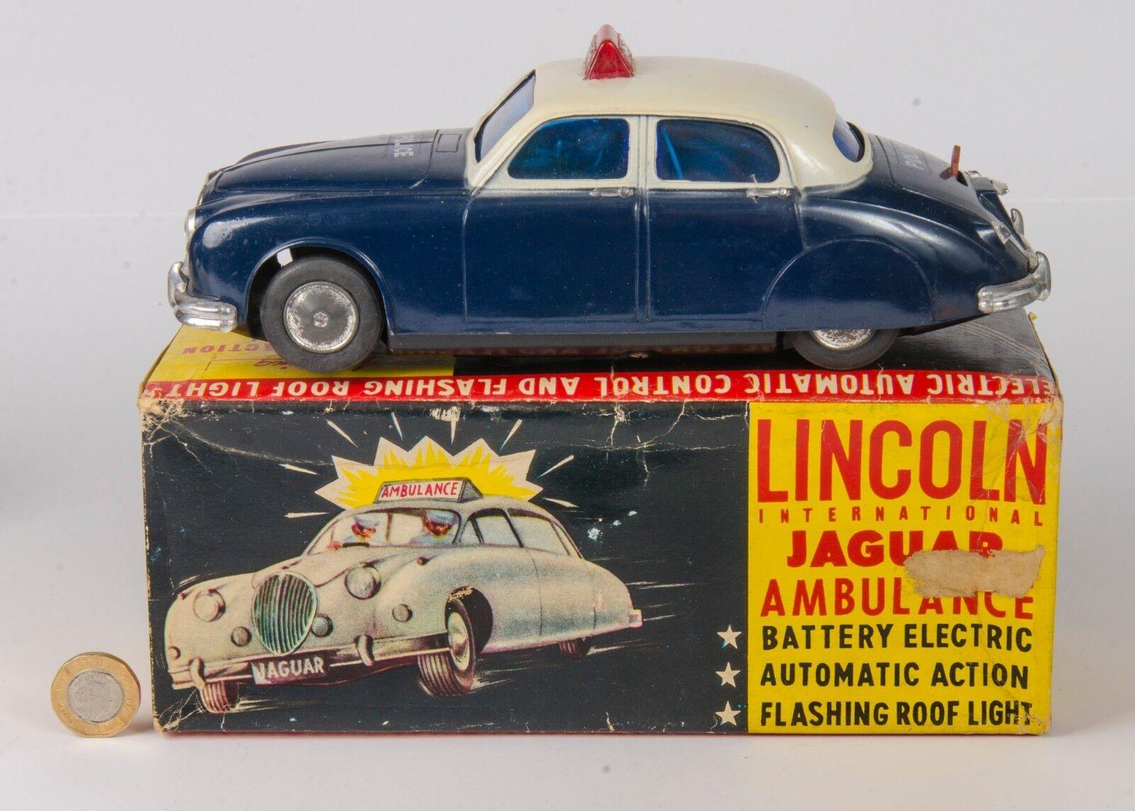 Lincoln internazionale di polizia jaguar. ELETTRICO. in SCATOLA. ORIGINALE anni 1960.