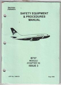 british airways boeing 737 cabin crew safety sep manual ba ebay rh ebay co uk cabin crew safety manual cabin safety manual pdf