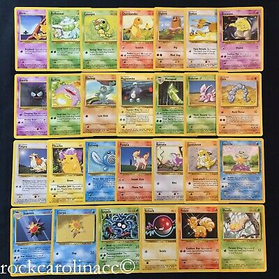 Pokemon Cards Commons Choose Card Base Set Singles