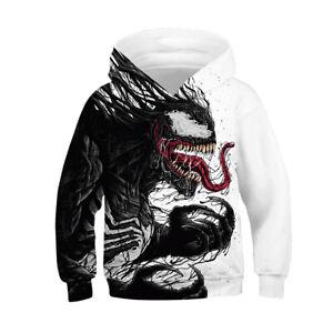 Kids Boys Spider-Man Venom Spaceman Cosplay Zip Up Hoodie Xmas Party Coat Jacket