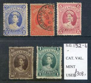 Queensland-1882-Chalon-Head-2sh-2sh-6d-5sh-10sh-amp-1-used-2018-06-15-14