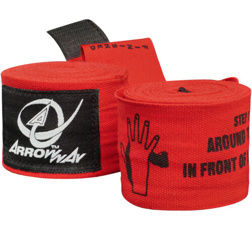 ARROWWAY INSTRUCTIONAL HAND WRAPS Meister Pro Elastic Boxing MMA Kids Wrist