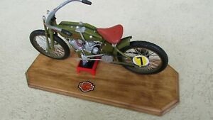 1917-HARLEY-DAVIDSON-V-twin-board-track-racer-motorcycle-deluxe-1-6-quality-box