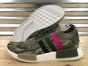 1fe0417d9b963 Adidas NMD R1 Glitch Camo Shoes Major Green Night Shock Pink SZ ...