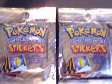 4-Pokemon Stickers 1999-Series 1 Sealed Packs by Artbox 10 Stickers Per Pack