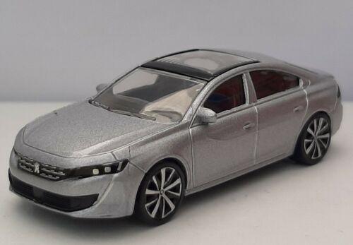 SANS BOITE Norev 3 inches 1//64 Peugeot 508 2019 gris  métal Neuf