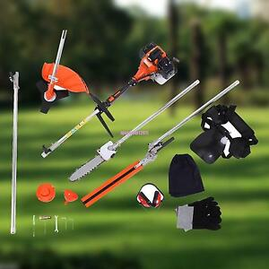 Grass Trimmer Garden Tools New High Quality Petrol Brush Cutter Grass Cutter 5 In1 With 52cc Petrol Engine Multi Brush Strimmer Hedge Trimmer Tree Cutter