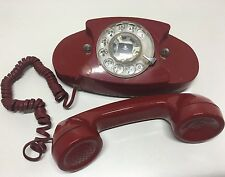 VINTAGE RED PRINCESS ROTARY TELEPHONE WESTERN ELECTRIC
