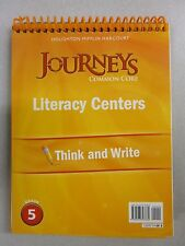 Journeys Common Core Grade 5 Literacy Centers Think and Write Flip  0547897669