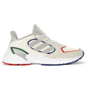 Adidas Men's 90s Valasion Cloud White/Grey Two/Tech Indigo Running Shoes EG84...