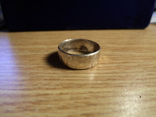 BAND SIZES  8-15 10 Grams /& 10mm/'s STERLING SILVER MENS HAMMERED SILVER RING