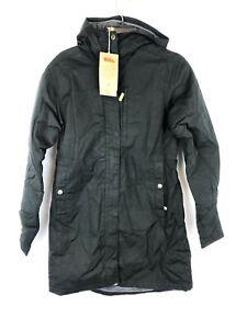 Fjallraven Women's Kiruna Padded Parka, Black Hooded Coat, Size Small