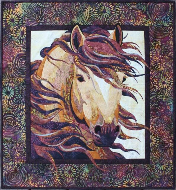 Summer Breeze Horse Quilt Quilting Pattern From Toni Whitney Design