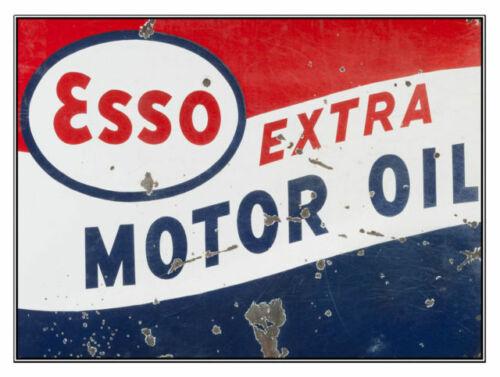 AMERICANA ESSO EXTRA  MOTOR OIL METAL SIGN MAN CAVE QUALITY HOME DECOR