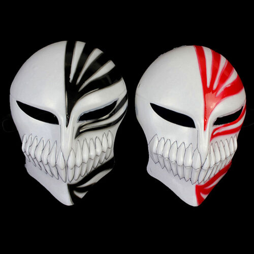 2Pcs Japan Anime Bleach Ichigo Kurosaki Mask Full Hollow prop masquerade Cosplay