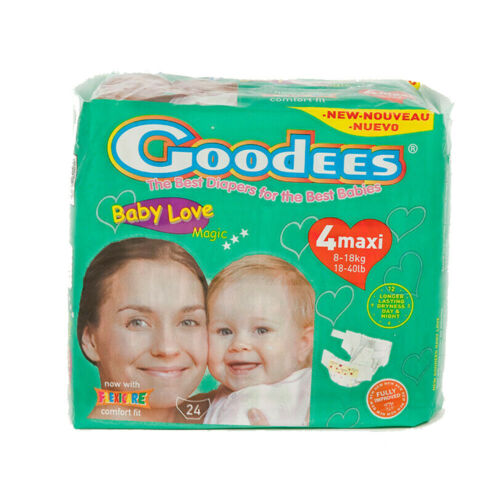 8-18kg 24pkt GOODEES BABYLOVE NAPPIES FLEXICARE COMFORT FIT NEW SIZE 4 MAXI