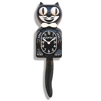 Kit-Cat Clock Uhr Black Classic das Original in Schwarz aus USA die Große!!! NEU
