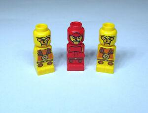 LEGO 4 x  Microfiguren Spiel 3841 Minotaurus rot weiß blau gelb NEU