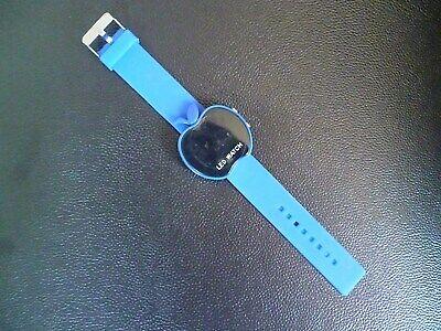 AnpassungsfäHig Watch Uhr Kinder Led Blau Armbanduhr Zeitmesser Apfel Form Digitalmesser Uhrzeit