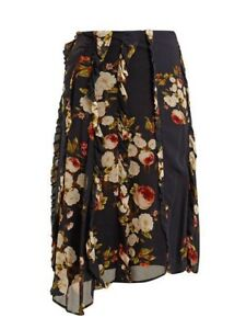 Designer-Preen-Line-Elaine-Floral-Midi-Skirt-Sz-M-BNWT-RRP-575
