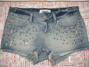 Jeans blu denim 0 Victoria's Secret sfacciato cristalli in con taglio taglia Nwt xqFCw6w