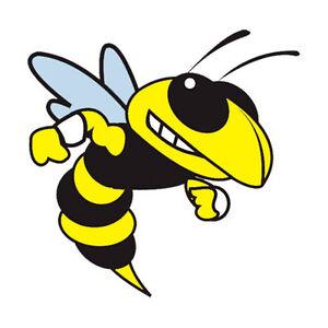 b8b83bbeaaa7 Image is loading 12-Yellow-Jackets-Temporary-Tattoos-School-Mascot-Face