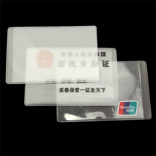 10X PVC Credit Card Holder Protect ID Card Business Card Cover Clear FrostedP1