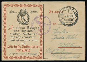 WWII-WW2-Germany-3rd-Reich-Postcard-Cover-Hitler-Wehrmacht-Soldier-Feldpost-1942