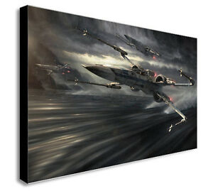 Image Is Loading X WING STAR WARS Canvas Wall Art Print