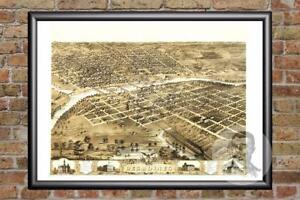 Vintage-Des-Moines-IA-Map-1868-Historic-Iowa-Art-Old-Victorian-Industrial