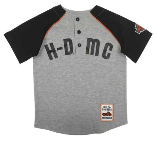 Gray 1081933 Harley-Davidson Little Boys/' HDMC Raglan Baseball Jersey T-Shirt