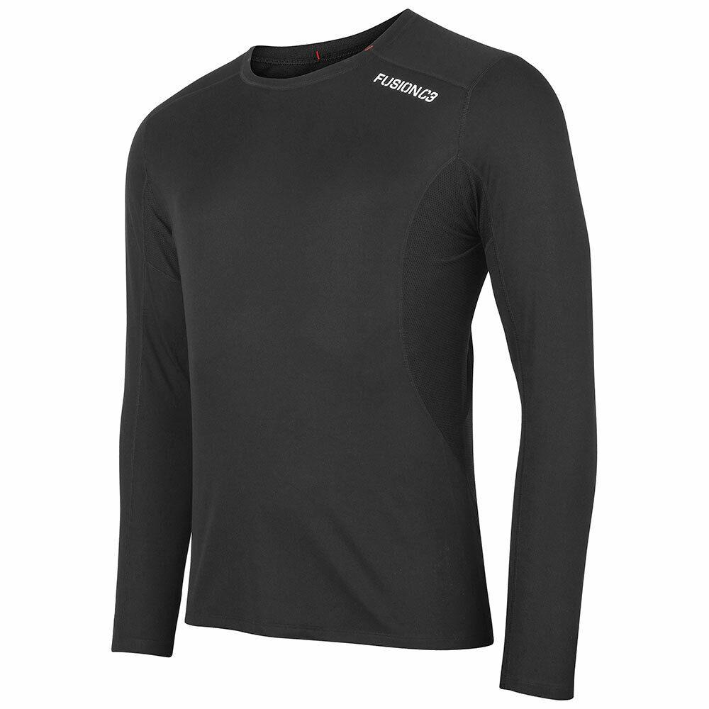 Fusion Herren C3 LS Shirt langarm Laufshirt Herren Fitness Laufen Longsleeve