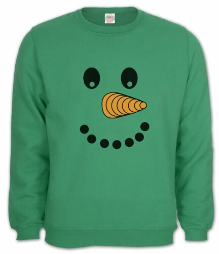 Happy Snowman Face Sweatshirt Xmas Present Gift Idea Christmas Party